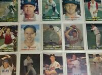 1957 Topps Baseball - Cards #211-407 - Set Break - Choose From The List (2 of 2)