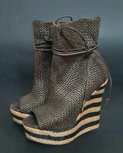 BURBERRY Platform Sandals Shoes size 37 US 6,5