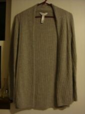 Gilligan & O'Malley Long Sleeve Open Front Gray Ribbed Drape XS Sweater ~ SALE!