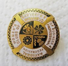 Vintage NATIONAL WOMEN'S CLUBS OF GB & NI BUSINESS Pin BADGE FATTORINI