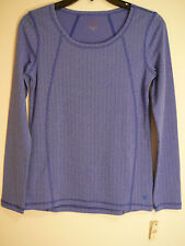 NEW $39.50 T by Talbots Sz XS Women Active Athletic Pullover Top Long Sl Stretch