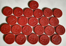 Vintage Lot of 23 'STOP MONKEYING' Cat Dog Monkey RED Poker Chips