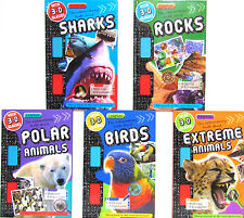 I Explore 3D Readers With 3D Glasses Rocks,Sharks,Birds,Polar 5 Hardcover Set