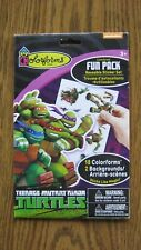 18 NINJA TURTLES colorforms FUN PACK & Reusable STICKER SET With 2 Backgrounds