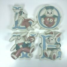 """Easter Bunnies """"Love"""" Hanging E12"""