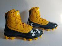 Under Armour Highlight Youth 3021201-004 Yellow Black Football Cleats Size 4.5