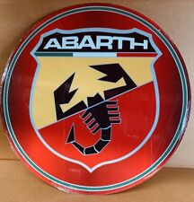 NEW Abarth Large Round tin metal sign