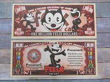 FELIX the CAT 1923 Animal Cartoon Character ~ Fun $1,000,000 One Million Dollars