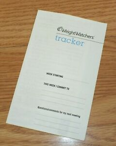1 Single Week Weight Watchers Tracker Pamphlet / Paper For Diet Tracking