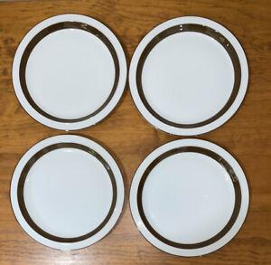 Vintage Mikasa Metro L4825 Dinner Plates Set Of 4 Japan 26.5cm Diameter