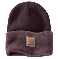 Carhartt Womens Watch Hat - Colour Block Deep Wine Ladies Two-Tone Ski Hat Winte