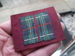 UNKNOWN OLD TARTAN CLOTH FORMATION TYPE BADGE, PATCH.