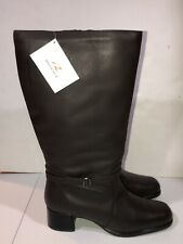 NEW Regence Leather Side Zip Knee High Fashion Boots Size 12 D