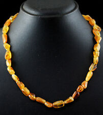 205.00 Cts Natural 20 Inches Long Hessonite Garnet Untreated Beads Necklace