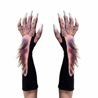 Pretty Dragon Alien Reptile Claws Hands Cosplay Adult Halloween Costume Gloves