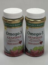 (2) Nature's Bounty Omega-3 Gummies 70 Count Each. Exp 8/20