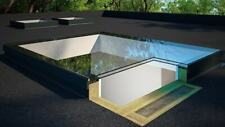 Flat Roof Lantern Thermolight Skylight  Rooflight Glazed 1000mm x 1000mm