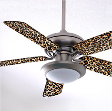 Leopard Skin Ceiling Fan Blade Sock Decorative Lighting Dust Cover