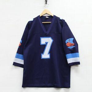 Vintage Toronto Argonauts #7 Jersey Size XL Blue CFL Made Canada