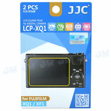 JJC LCD Screen Guard Protector PET Film For FujiFilm XQ1 XF1 Digital Camera 2pcs