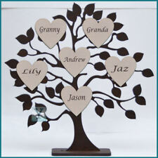 Personalised Wooden Family Tree ❤ Gift Decoration handcrafted freestanding