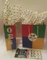 Order of the Eastern Star OES Gift wrapping 2 Gift Bags with 10 Tissue Paper Set