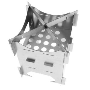 Stainless Steel Wood Stove Portable Folding Outdoor Camping Cooking Utensil