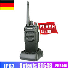 IP67 Retevis RT648 PMR Funkgeräte Lizenzfrei VOX 16Kanäle CTCSS VOX Alarm Radio