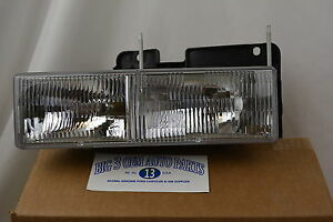 Chevrolet GMC Cadillac Left Hand Driver Side HEADLAMP/HEADLIGHT new OEM 15034929