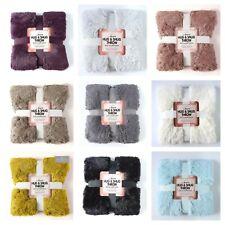 Luxury HUG & SNUG Fluffy Fur Warm &  Cosy Soft Sofa Bed Blanket Warm Throw