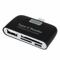 USB 3.1 Type C to USB 3.0 OTG HUB Adapter SD TF Micro SD Memory Card Reader US