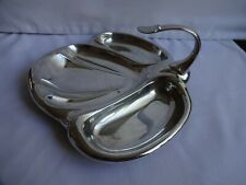 More details for vintage mappin & webb silver plated hors d`ouevres 3 section dish 25 x 21 cm