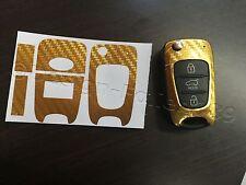 Carbonio Cromo Oro Pellicola Chiave Hyundai ad es. i10 i20 i30 ix35 ix20 Elantra
