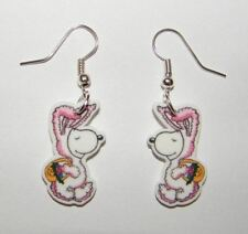 New  for Easter  Peanuts Gang Snoopy  dressed as the Easter Bunny  Earrings