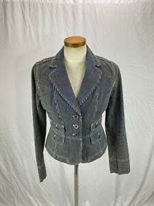 Ann Taylor Loft Women's Cotton Blue Striped Blazer Jacket 2 NWT