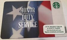 New Veterans Day Starbucks Gift Cards Honor,Duty & Service. Free Shipping.