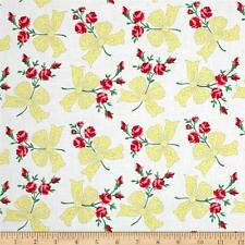 Michael Miller Faye  Cotton Quilt Fabric  Ribbons and Roses Retro  BFab