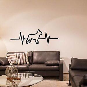 Wandtattoo French Bulldog Herzschlag Puls Französische Bulldogge #DB-17