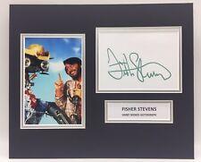 RARE Fisher Stevens Short Circuit Signed Photo Display + COA AUTOGRAPH