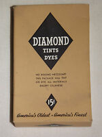 VINTAGE ADVERTISING AD 1935 DIAMOND TINTS DYES 15C BOX