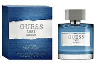 Guess 1981 Indigo Cologne by Guess 3.4 oz EDT Spray for Men New In Box