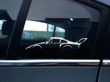2x SILHOUETTE Stickers Adesivo-FOR PORSCHE 911, 935 Slant Nose Oldtimer