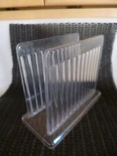 Vintage Clear Acrylic Lucite Plastic Mid Century Modern RETRO Napkin Holder