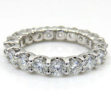 2.75ct Ladies 14k White Gold Natural Si1 Diamond Eternity Wedding Band Ring