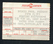 1987 Pink Floyd Concert Ticket Stub A Momentary Lapse Of Reason Tour Silverdome