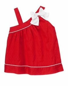 NWT Gymboree Parisian Afternoon Red Bow Tank Top SZ 8 Girls