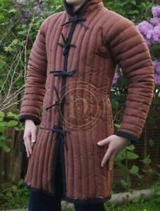 Medieval Black padded Gambeson coat Aketon Reenactment Costumes