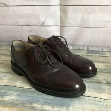 Kenneth Cole New York Men's Burgundy Leather Lace Up Oxfords Shoes Sz 9.5