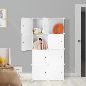 DIY 8 Cubes Portable Clothes Closet Organizer Wardrobe Storage Shelves Living