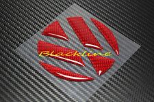 06~16 VW Jetta MK5 MK6 Trunk Emblem RED Carbon Fiber Decal Overlay Insert Filler